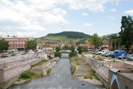 River through Novi Pazar.