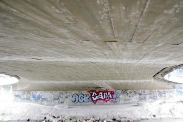 Graffiti under the bridge.