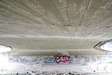 Graffiti under the bridge.