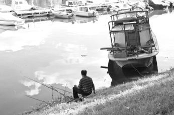 Fisherman in Belgrade.