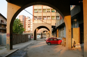 An alleyway in Novi Pazar.