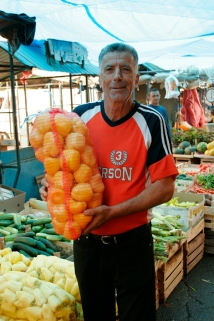 Fruit vendor, Novi Pazar.
