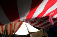 Roma family tent
