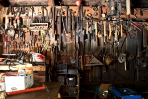 Gerald's collection of handtools.