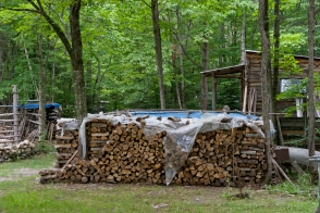 My Uncle Alan, who lives on the same land, also keeps a large store of firewood for winter.